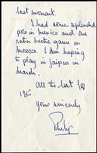 1965 PRINCE PHILIP ALS WITH ENVELOPE