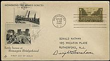 EISENHOWER c.1945 AUTOGRAPH ON FIRST DAY COVER