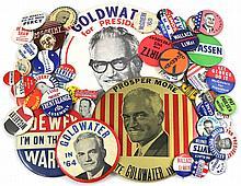 1920s-60s POLITICAL CAMPAIGN BUTTONS (x400)