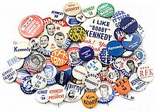 1960s ROBERT F. KENNEDY CAMPAIGN BUTTONS (x57)