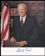1970s-90s POLITICANS SIGNED PHOTOS (x10) W/ PRESIDENTS CARTER & FORD