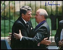 1980s MIKHAIL GORBACHEV SIGNED PHOTO