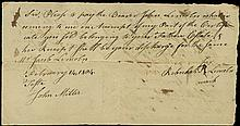 1804 ANCESTORS OF ABRAHAM LINCOLN SIGNED DOCUMENT