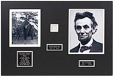 1865 STRAND OF ABRAHAM LINCOLN'S HAIR