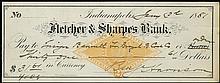 1881 BENJAMIN HARRISON SIGNED CHECK