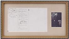 1870 WILLIAM MCKINLEY 2X SIGNED INDICTMENT DOCUMENT
