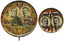 1900 MCKINLEY & ROOSEVELT CAMPAIGN BUTTONS (x2)