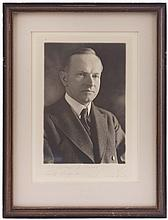 1928 CALVIN COOLIDGE SIGNED, INSCRIBED PHOTO