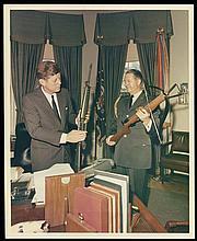 1963 KENNEDY & GUNS PHOTOGRAPHS (x7)