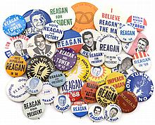 1968 RONALD REAGAN PRESIDENTIAL CAMPAIGN BUTTONS (x38)
