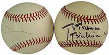 1990s BILL CLINTON SIGNED BASEBALLS (x2)