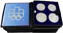 CANADA 1973-76 MONTREAL SUMMER OLYMPICS $5 & $10 SILVER ISSUES