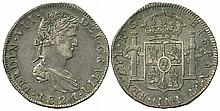 MEXICO 1778-1833 8 REALES COINS x4