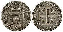 PORTUGAL 1705 PETER II 400r SILVER COIN