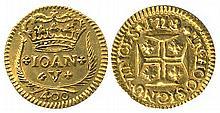 PORTUGAL 1718 JOHN V 400r GOLD COIN