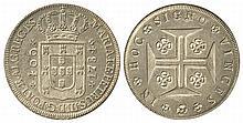 PORTUGAL 1784 MARIA I & PETER III 400r SILVER