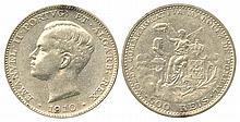 PORTUGAL 1910 MARQUIS de POMBAL 500r & PENINSULAR WAR CENTENNIAL 500r & 1000r SILVER COINS