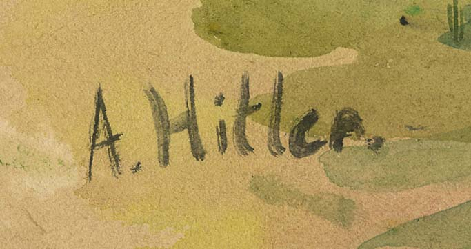 1906 ADOLF HITLER WATERCOLOR PAINTING