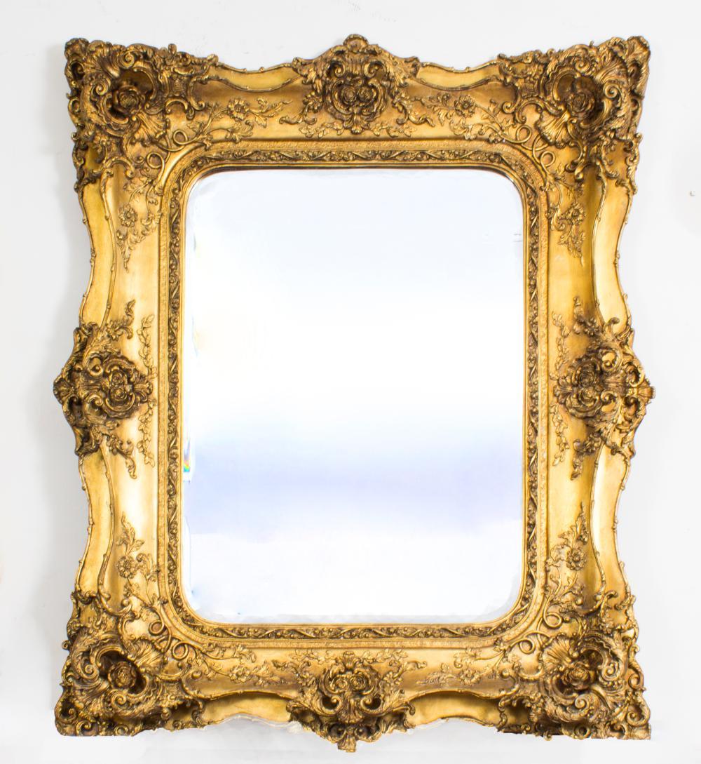 Stunning Large Ornate Italian Gilded Mirror 122 X 101 Cm