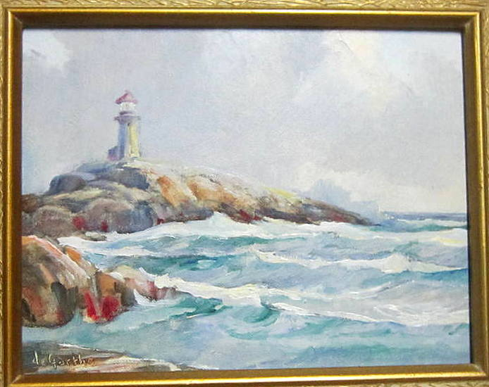 William Edward de Garth (1907-1983 Canadian) Lighthouse