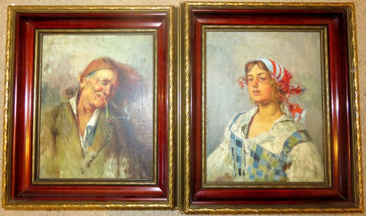 new style 5075b ca9a4 2 X Tito Pellicciotti (1872-1943/50) RARE Portraits