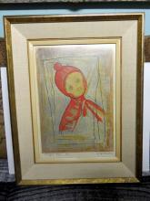 Yoshiro Nagase - (Woodblock or Silkscreen) Toboggan Boy