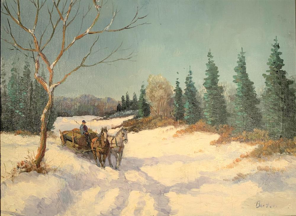 Georgie Read Barton (1902-1994 Canadian) Sleigh Ride