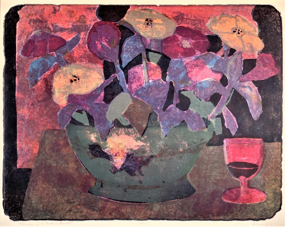 John Harold Thomas Snow (1911-2004) Flowers in Bowl