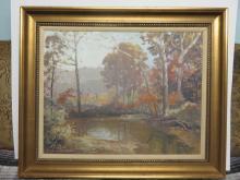 Francois Clark Brown (1908-1992) Impressionist Canvas