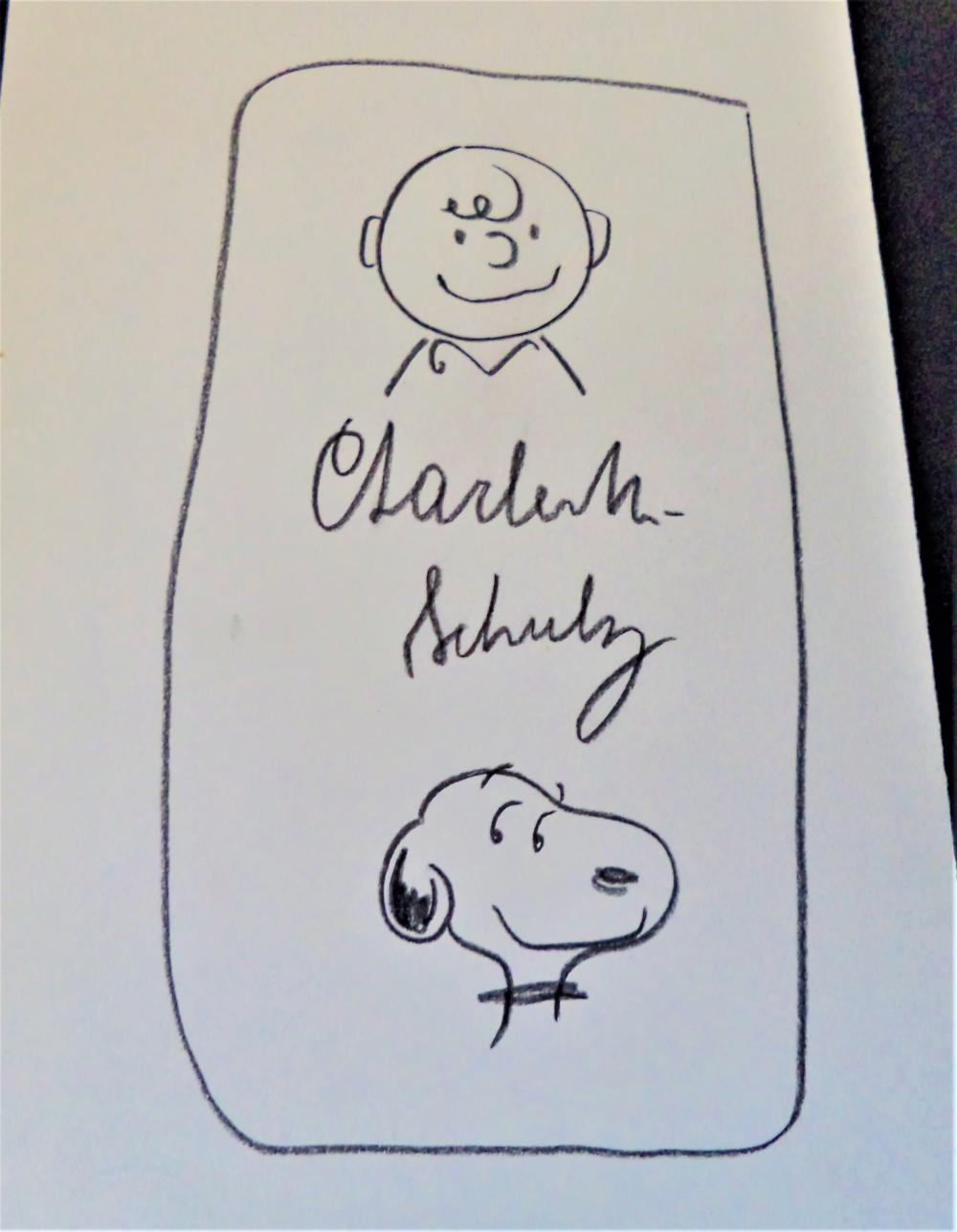 Charles Schulz Charlie Brown Snoopy Peanuts Crayon Drawing