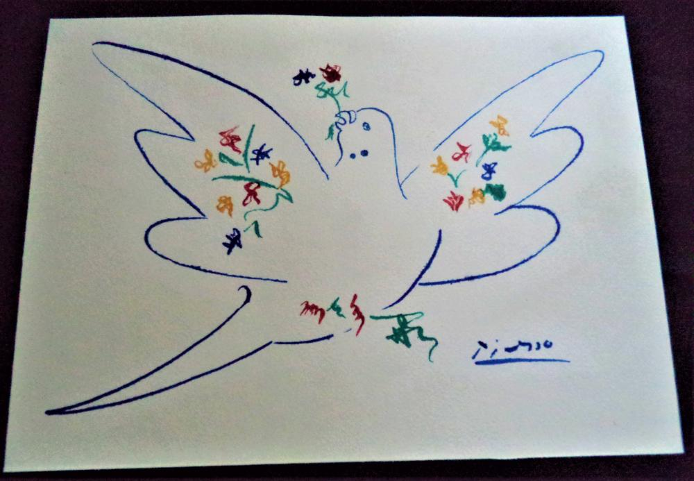 This is a photo of Critical Picasso Bird Drawing