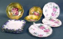 Lot Including English Bone China Serving Items