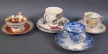 Lot of Four Beautiful English Bone China Cups & Saucers