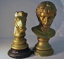 PAIR OF CERAMIC BUST