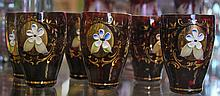 SET OF 6 HAND PAINTED GLASSES
