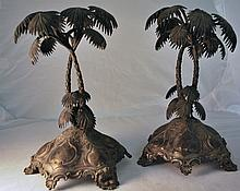 PAIR OF VINTAGE PALM TREES