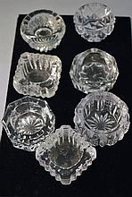 LOT OF 7 CANDLE HOLDERS