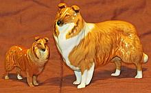 Two Beswick Collies