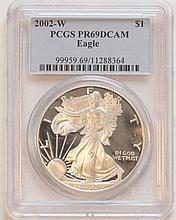 2002W American Eagle Silver Dollar PCGS PR69 DCAM