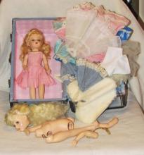 Two Vintage Mary Hoyer Dolls & Doll Accessories