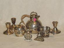 6 Sterling & 2 Silver Plate Items