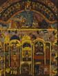 Elément central d'une toile marouflée sur panneau Les pèlerins allant se recueillir à Jérusalem rapportaient au XIXe siècle comme souvenir pieux ces tableaux. 90 x 73 cm expert : ariane de saint-marcq +33 (0) 1 47 20 92 64 mail: