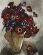 Jacques-Henri LARTIGUE (1894-1986)   Fleurs sur un entablement, 1931  Huile sur toile   Signée et datée en bas à gauche   116 x 89 cm   (petits accidents, aeuvre non encadrée)  600/1 000