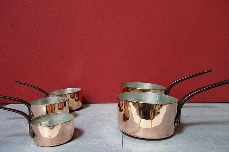 Tr s rare s rie de cinq casseroles de la maison soliliage - La maison france cinq ...