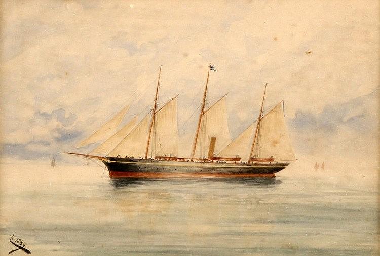 REI D. CARLOS (1863-1908), YACHT AMÉLIA