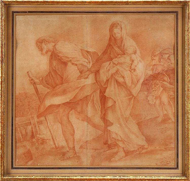 ITALIAN SCHOOL, 17TH CENTURY, FLIGHT INTO EGYPT