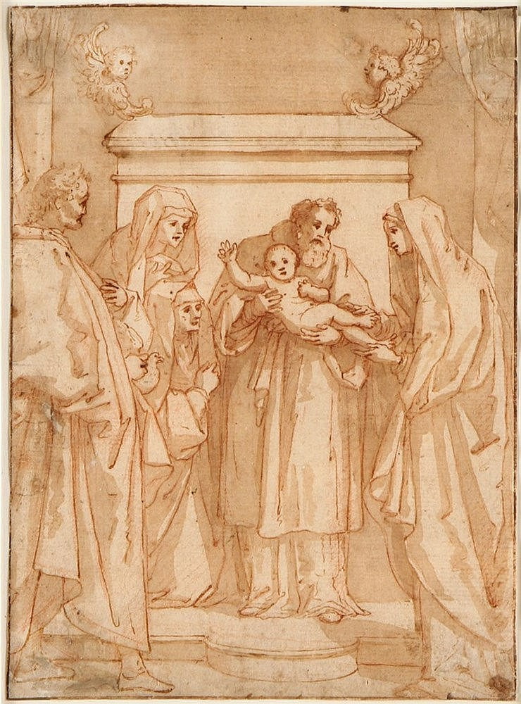 ITALIAN SCHOOL, 17TH CENTURY, PRESENTATION OF THE CHILD