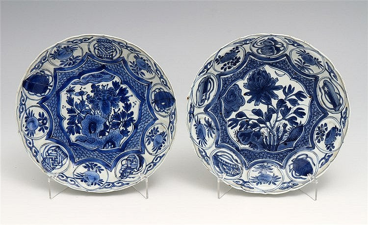 PAIR OF SAUCERS