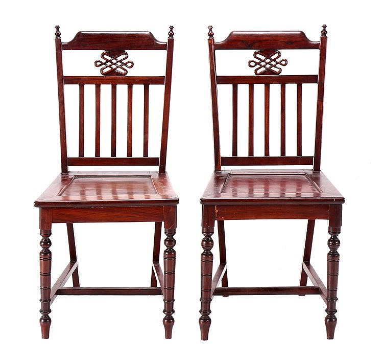 PAIR OF ORIENTAL CHAIRS
