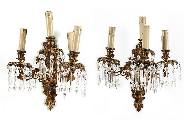PAIR OF NAPOLEON III WALL APPLIQUES